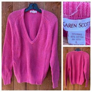 Vintage Karen Scott Sweater Pink